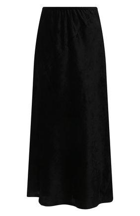 Женская юбка из вискозы JIL SANDER черного цвета, арт. JSWT356110-WT431000 | Фото 1 (Материал подклада: Вискоза; Материал внешний: Синтетический материал, Вискоза; Стили: Минимализм; Женское Кросс-КТ: Юбка-одежда; Длина Ж (юбки, платья, шорты): Миди)