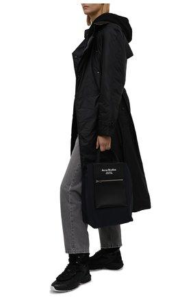 Женские кожаные кроссовки shegoes VALENTINO темно-серого цвета, арт. WW2S0AH6/XZX | Фото 2 (Материал утеплителя: Натуральный мех; Подошва: Платформа; Кросс-КТ: хайтопы)