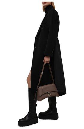 Женские кожаные сапоги uniqueform VALENTINO черного цвета, арт. WW2S0CC8/RBJ   Фото 2 (Материал внутренний: Натуральная кожа; Подошва: Платформа; Высота голенища: Средние; Каблук тип: Устойчивый; Каблук высота: Средний)