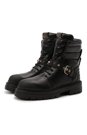 Женские кожаные ботинки rockstud VALENTINO черного цвета, арт. WW2S0CL0/HTQ | Фото 1 (Подошва: Платформа; Материал внутренний: Натуральная кожа; Каблук высота: Низкий; Женское Кросс-КТ: Зимние ботинки)