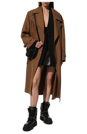 Женские кожаные ботинки rockstud VALENTINO черного цвета, арт. WW2S0CL0/HTQ | Фото 2 (Подошва: Платформа; Материал внутренний: Натуральная кожа; Каблук высота: Низкий; Женское Кросс-КТ: Зимние ботинки)
