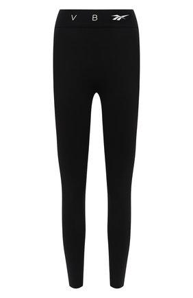 Женские леггинсы reebok x victoria beckham REEBOK черного цвета, арт. H30217 | Фото 1 (Материал внешний: Синтетический материал; Длина (брюки, джинсы): Стандартные; Стили: Спорт-шик; Женское Кросс-КТ: Леггинсы-спорт)