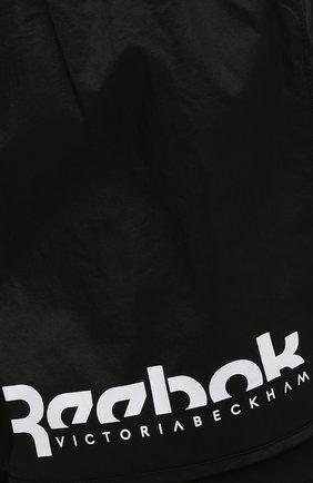 Женские шорты reebok x victoria beckham REEBOK черного цвета, арт. H30225   Фото 5 (Женское Кросс-КТ: Шорты-одежда, Шорты-спорт; Длина Ж (юбки, платья, шорты): Мини; Материал внешний: Синтетический материал; Стили: Спорт-шик; Материал подклада: Синтетический материал)