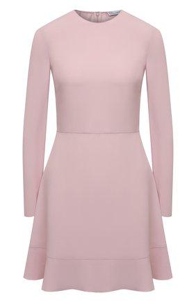 Женское платье REDVALENTINO светло-розового цвета, арт. WR0VACK5/0F1   Фото 1 (Рукава: Длинные; Материал внешний: Синтетический материал, Вискоза; Длина Ж (юбки, платья, шорты): Мини; Стили: Классический; Случай: Формальный; Женское Кросс-КТ: Платье-одежда, платье-футляр)