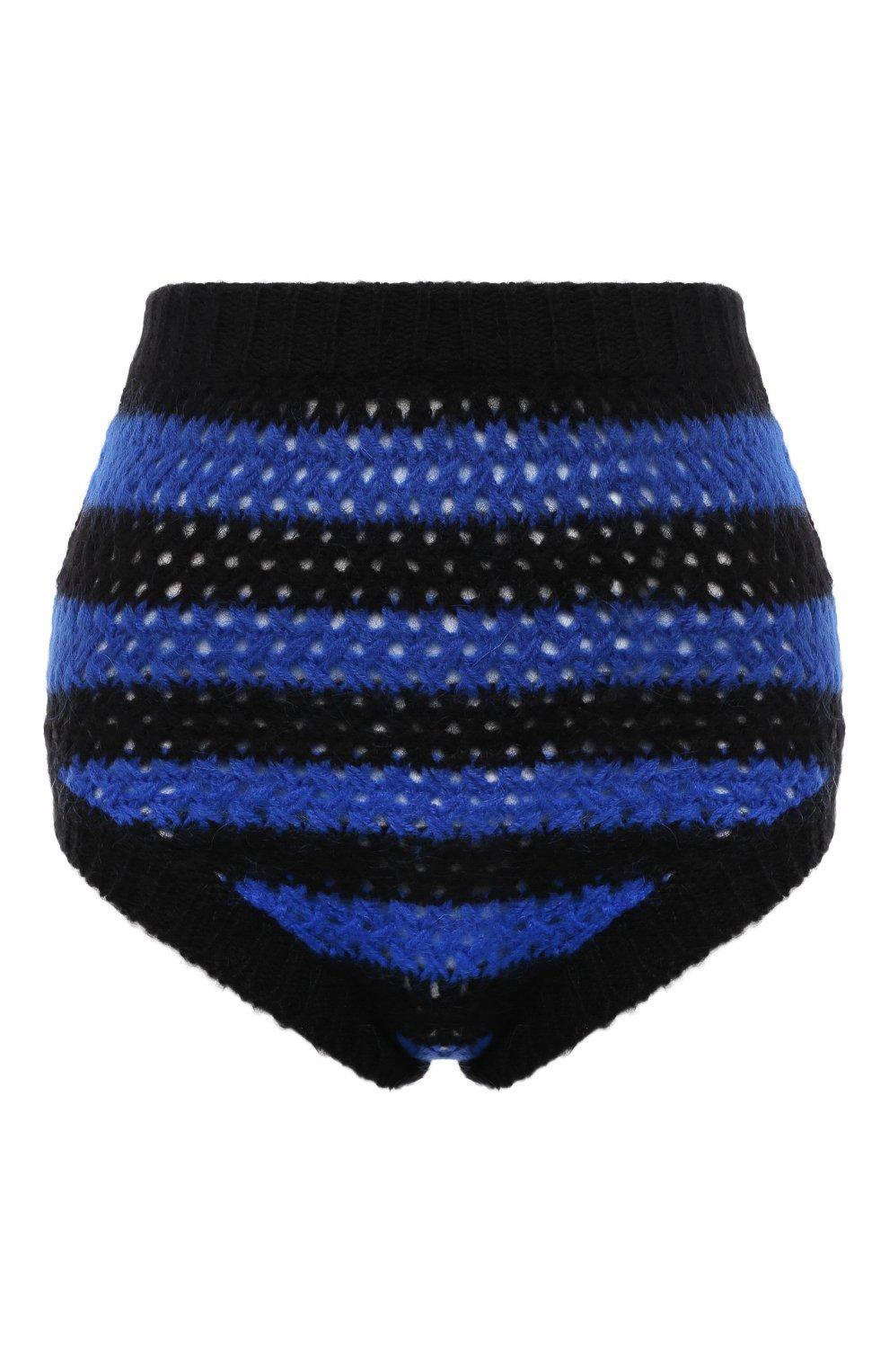 Женские шорты REDVALENTINO синего цвета, арт. WR0KF00F/66Y | Фото 1 (Женское Кросс-КТ: Шорты-одежда; Стили: Гламурный; Длина Ж (юбки, платья, шорты): Мини; Материал внешний: Синтетический материал)