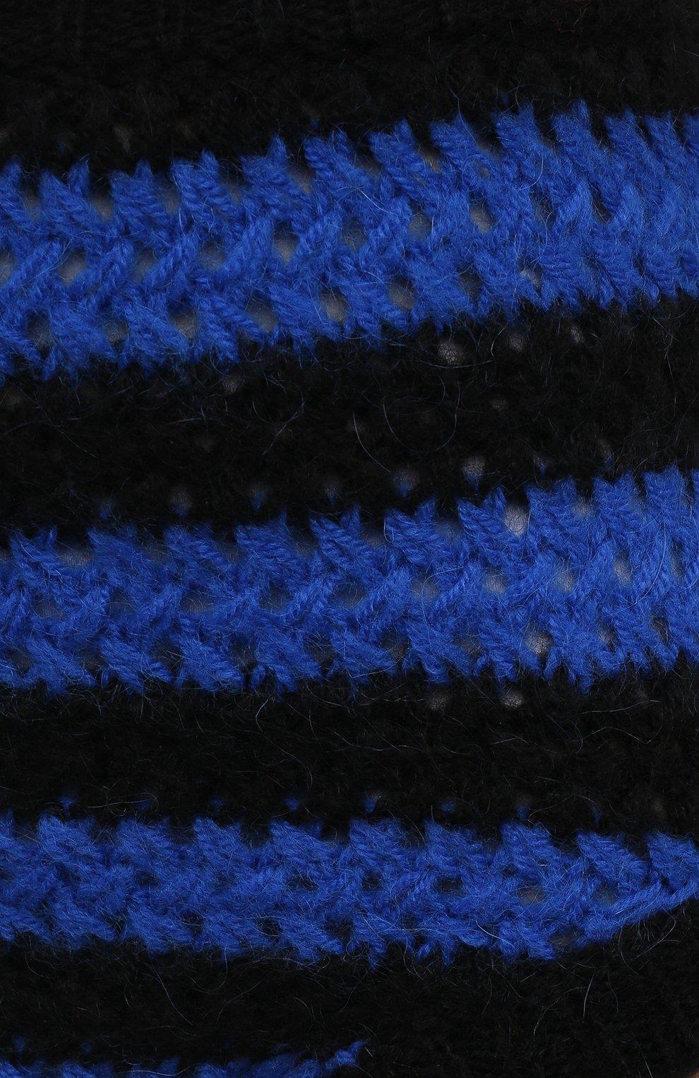 Женские шорты REDVALENTINO синего цвета, арт. WR0KF00F/66Y | Фото 5 (Женское Кросс-КТ: Шорты-одежда; Стили: Гламурный; Длина Ж (юбки, платья, шорты): Мини; Материал внешний: Синтетический материал)