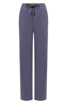 Женские брюки OFF-WHITE серого цвета, арт. 0WVI010F21JER001 | Фото 1 (Материал внешний: Синтетический материал, Вискоза; Длина (брюки, джинсы): Удлиненные; Стили: Спорт-шик; Женское Кросс-КТ: Брюки-одежда; Силуэт Ж (брюки и джинсы): Широкие)