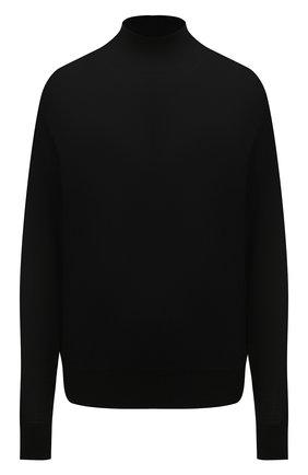 Женская водолазка из шерсти и шелка IRO черного цвета, арт. WM12R0MEA   Фото 1 (Материал внешний: Шерсть; Длина (для топов): Стандартные; Рукава: Длинные; Стили: Кэжуэл; Женское Кросс-КТ: Водолазка-одежда)