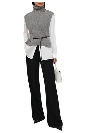 Женский шерстяной жилет DRIES VAN NOTEN серого цвета, арт. 212-012208-3703   Фото 2 (Материал внешний: Шерсть; Стили: Минимализм; Кросс-КТ: Трикотаж; Женское Кросс-КТ: Жакет-одежда; Длина (для топов): Укороченные; Длина (верхняя одежда): Короткие)