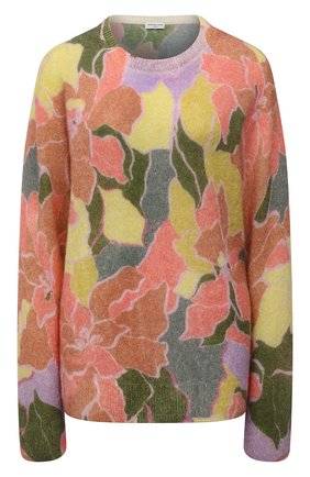 Женский шерстяной пуловер DRIES VAN NOTEN розового цвета, арт. 212-011238-3720 | Фото 1 (Рукава: Длинные; Длина (для топов): Стандартные; Материал внешний: Синтетический материал, Шерсть; Стили: Кэжуэл; Женское Кросс-КТ: Пуловер-одежда)