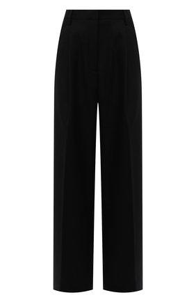 Женские шерстяные брюки DRIES VAN NOTEN черного цвета, арт. 212-010972-3041 | Фото 1 (Материал внешний: Шерсть; Стили: Минимализм; Женское Кросс-КТ: Брюки-одежда; Силуэт Ж (брюки и джинсы): Широкие; Длина (брюки, джинсы): Удлиненные)
