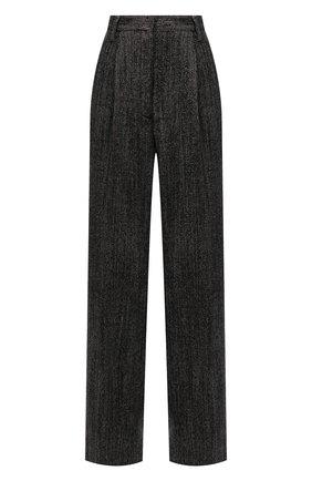 Женские шерстяные брюки DRIES VAN NOTEN коричневого цвета, арт. 212-010972-3040   Фото 1 (Материал внешний: Шерсть; Длина (брюки, джинсы): Удлиненные; Стили: Минимализм; Женское Кросс-КТ: Брюки-одежда; Силуэт Ж (брюки и джинсы): Широкие)