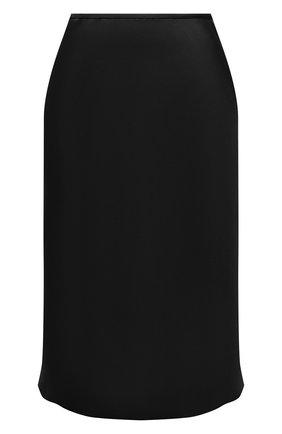 Женская юбка из вискозы DRIES VAN NOTEN черного цвета, арт. 212-010892-3159   Фото 1 (Материал внешний: Вискоза; Длина Ж (юбки, платья, шорты): До колена; Стили: Минимализм; Женское Кросс-КТ: Юбка-одежда)