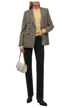Женский свитер CHLOÉ желтого цвета, арт. CHC21AMP13550 | Фото 2 (Материал внешний: Синтетический материал, Шерсть; Стили: Кэжуэл; Рукава: Длинные; Длина (для топов): Стандартные; Женское Кросс-КТ: Свитер-одежда)