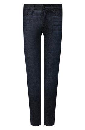 Мужские джинсы BOSS темно-синего цвета, арт. 50458104 | Фото 1 (Материал внешний: Хлопок; Длина (брюки, джинсы): Стандартные; Кросс-КТ: Деним; Детали: Потертости; Силуэт М (брюки): Прямые; Стили: Кэжуэл)