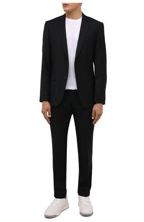 Мужской шерстяной костюм BOSS черного цвета, арт. 50458878 | Фото 1 (Материал внешний: Шерсть; Рукава: Длинные; Костюмы М: Однобортный; Стили: Классический)