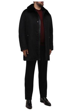 Мужской кашемировое пальто с меховой отделкой ZILLI черного цвета, арт. MAW-TIMBU-03001/0003/66-68 | Фото 2 (Материал подклада: Шелк; Длина (верхняя одежда): До середины бедра; Материал внешний: Кашемир, Шерсть; Рукава: Длинные; Мужское Кросс-КТ: пальто-верхняя одежда; Стили: Классический; Big sizes: Big Sizes)