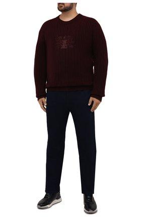 Мужские джинсы ZILLI темно-синего цвета, арт. MCW-00032-JABI1/R001/66-68 | Фото 2 (Длина (брюки, джинсы): Стандартные; Материал внешний: Хлопок; Кросс-КТ: Деним; Силуэт М (брюки): Прямые; Стили: Классический; Big sizes: Big Sizes)