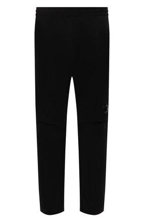 Мужские хлопковые брюки C.P. COMPANY черного цвета, арт. 11CMPA193A-005529G | Фото 1 (Длина (брюки, джинсы): Стандартные; Материал внешний: Хлопок; Случай: Повседневный; Стили: Гранж)