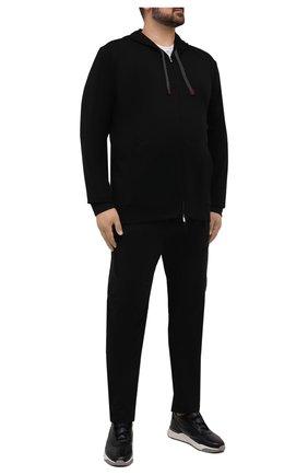Мужские хлопковые брюки C.P. COMPANY черного цвета, арт. 11CMPA193A-005529G | Фото 2 (Длина (брюки, джинсы): Стандартные; Материал внешний: Хлопок; Случай: Повседневный; Стили: Гранж)