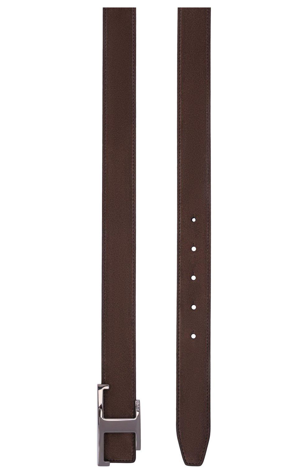 Мужской замшевый ремень TOD'S коричневого цвета, арт. XCMCQR50100KQY | Фото 3 (Случай: Повседневный)