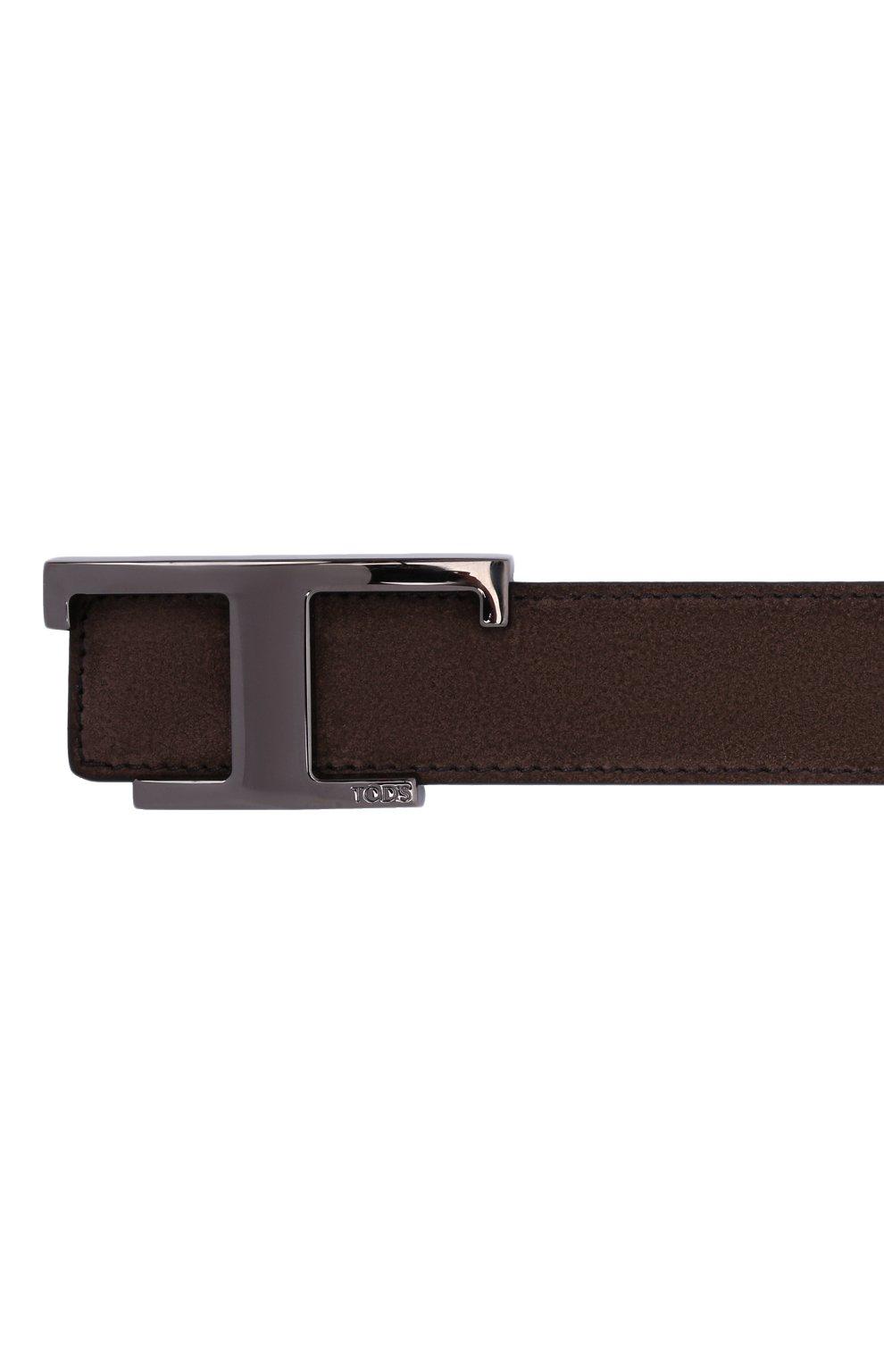 Мужской замшевый ремень TOD'S коричневого цвета, арт. XCMCQR50100KQY | Фото 4 (Случай: Повседневный)
