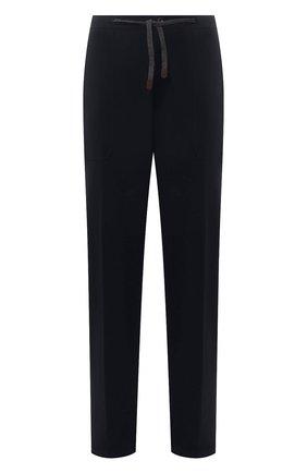 Мужские брюки MARCO PESCAROLO темно-синего цвета, арт. BAIA/ZIP/4462 | Фото 1 (Материал внешний: Лиоцелл; Мужское Кросс-КТ: Брюки-трикотаж; Случай: Повседневный; Стили: Кэжуэл; Big sizes: Big Sizes; Длина (брюки, джинсы): Стандартные)
