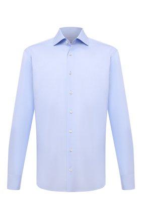 Мужская хлопковая сорочка VAN LAACK светло-голубого цвета, арт. RIVARA-LTF/161914 | Фото 1 (Материал внешний: Хлопок; Случай: Формальный; Принт: Однотонные; Манжеты: На пуговицах; Рубашки М: Slim Fit; Стили: Классический; Рукава: Длинные; Воротник: Акула; Длина (для топов): Стандартные)