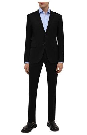 Мужская хлопковая сорочка VAN LAACK светло-голубого цвета, арт. RIVARA-LTF/161914 | Фото 2 (Материал внешний: Хлопок; Случай: Формальный; Принт: Однотонные; Манжеты: На пуговицах; Рубашки М: Slim Fit; Стили: Классический; Рукава: Длинные; Воротник: Акула; Длина (для топов): Стандартные)