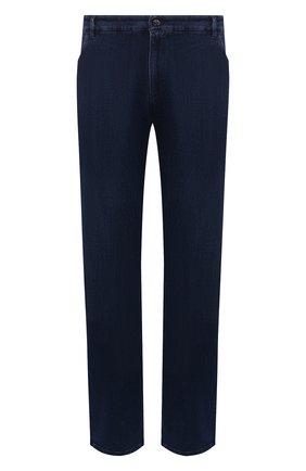 Мужские джинсы ZILLI темно-синего цвета, арт. MCW-00030-JABI1/R001/66-68 | Фото 1 (Длина (брюки, джинсы): Стандартные; Материал внешний: Хлопок; Кросс-КТ: Деним; Силуэт М (брюки): Прямые; Стили: Классический; Big sizes: Big Sizes)