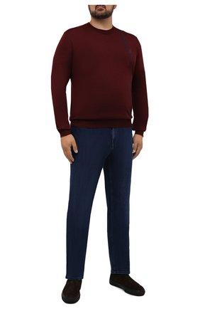 Мужские джинсы ZILLI темно-синего цвета, арт. MCW-00030-JABI1/R001/66-68 | Фото 2 (Длина (брюки, джинсы): Стандартные; Материал внешний: Хлопок; Кросс-КТ: Деним; Силуэт М (брюки): Прямые; Стили: Классический; Big sizes: Big Sizes)