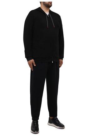 Мужские джоггеры POLO RALPH LAUREN черного цвета, арт. 711793939/PRL BS   Фото 2 (Материал внешний: Хлопок, Синтетический материал; Длина (брюки, джинсы): Укороченные; Силуэт М (брюки): Джоггеры; Мужское Кросс-КТ: Брюки-трикотаж; Стили: Спорт-шик; Big sizes: Big Sizes)