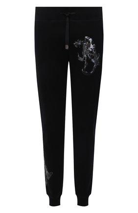 Мужские хлопковые джоггеры RH45 черного цвета, арт. KP20-I | Фото 1 (Материал внешний: Хлопок; Длина (брюки, джинсы): Стандартные; Силуэт М (брюки): Джоггеры; Мужское Кросс-КТ: Брюки-трикотаж; Стили: Спорт-шик)