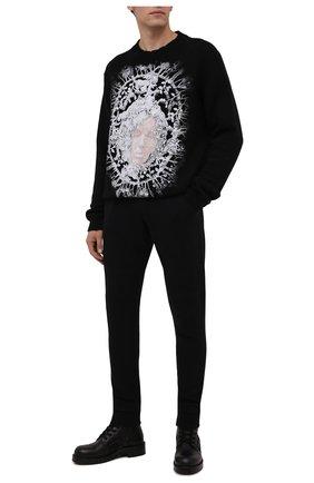 Мужские хлопковые джоггеры RH45 черного цвета, арт. KP25 | Фото 2 (Материал внешний: Хлопок; Длина (брюки, джинсы): Стандартные; Силуэт М (брюки): Джоггеры; Мужское Кросс-КТ: Брюки-трикотаж; Стили: Спорт-шик)