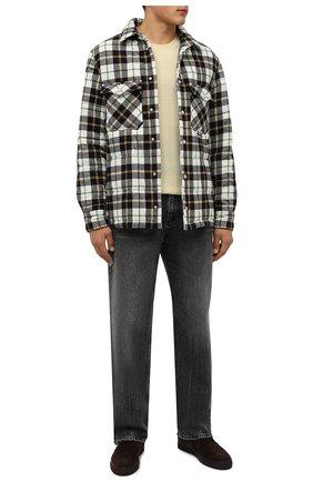 Мужские замшевые ботинки CORNELIANI коричневого цвета, арт. 88TM44-1820919 | Фото 2 (Подошва: Плоская; Материал внутренний: Текстиль, Натуральная кожа; Мужское Кросс-КТ: Ботинки-обувь, Дезерты-обувь; Материал внешний: Замша)