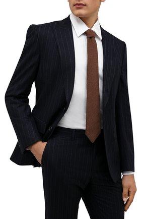 Мужской галстук из шерсти и шелка LUIGI BORRELLI темно-бежевого цвета, арт. CR361134   Фото 2 (Материал: Шерсть; Принт: Без принта)
