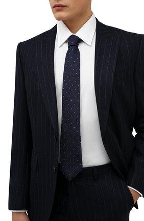 Мужской шелковый галстук LUIGI BORRELLI синего цвета, арт. CR361247/L0NG | Фото 2 (Материал: Шелк, Текстиль; Принт: С принтом)