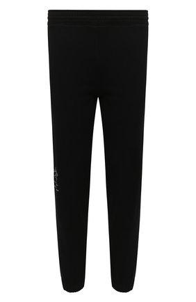 Мужские хлопковые джоггеры GIVENCHY черного цвета, арт. BM50Y63Y6V | Фото 1 (Длина (брюки, джинсы): Стандартные; Материал внешний: Хлопок; Силуэт М (брюки): Джоггеры; Мужское Кросс-КТ: Брюки-трикотаж; Стили: Спорт-шик)