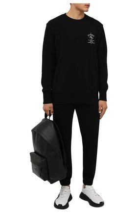 Мужские хлопковые джоггеры GIVENCHY черного цвета, арт. BM50Y63Y6V | Фото 2 (Длина (брюки, джинсы): Стандартные; Материал внешний: Хлопок; Силуэт М (брюки): Джоггеры; Мужское Кросс-КТ: Брюки-трикотаж; Стили: Спорт-шик)