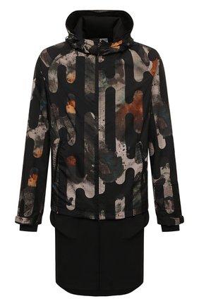 Мужская парка Y-3 разноцветного цвета, арт. HB3325/M | Фото 1 (Материал подклада: Синтетический материал; Материал внешний: Синтетический материал; Рукава: Длинные; Длина (верхняя одежда): До середины бедра; Стили: Милитари; Кросс-КТ: Куртка)