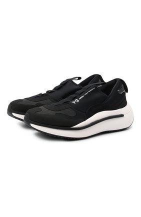 Мужские кроссовки qisan cozy Y-3 черного цвета, арт. H05692/M | Фото 1 (Материал внутренний: Натуральная кожа, Текстиль; Подошва: Массивная; Материал внешний: Текстиль; Стили: Спорт)