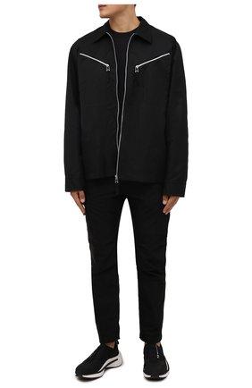 Мужские кроссовки qisan cozy Y-3 черного цвета, арт. H05692/M | Фото 2 (Материал внутренний: Натуральная кожа, Текстиль; Подошва: Массивная; Материал внешний: Текстиль; Стили: Спорт)
