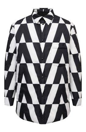 Мужская пуховая куртка VALENTINO черно-белого цвета, арт. WV0CNA967WP | Фото 1 (Длина (верхняя одежда): До середины бедра; Материал внешний: Синтетический материал; Материал утеплителя: Пух и перо; Материал подклада: Синтетический материал; Рукава: Длинные; Кросс-КТ: Куртка; Мужское Кросс-КТ: утепленные куртки; Стили: Минимализм)
