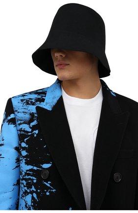 Мужская шерстяная панама OFF-WHITE черного цвета, арт. 0MLA023F21FAB001   Фото 2 (Материал: Шерсть)