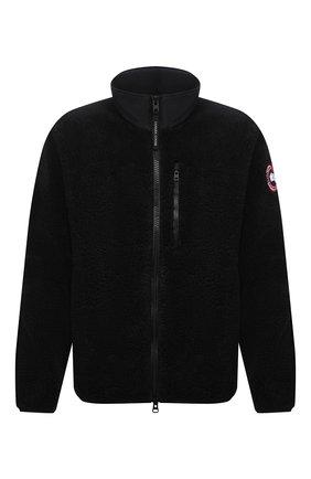 Мужская куртка CANADA GOOSE черного цвета, арт. 7017M | Фото 1 (Длина (верхняя одежда): Короткие; Материал внешний: Синтетический материал; Рукава: Длинные; Кросс-КТ: Куртка; Мужское Кросс-КТ: утепленные куртки; Стили: Спорт-шик)