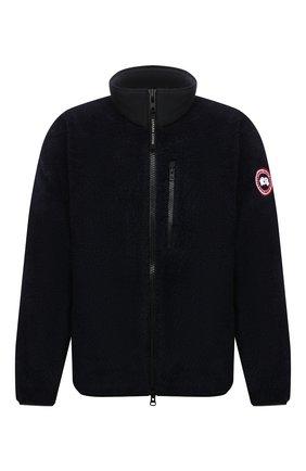 Мужская куртка CANADA GOOSE темно-синего цвета, арт. 7017M | Фото 1 (Длина (верхняя одежда): Короткие; Материал внешний: Синтетический материал; Рукава: Длинные; Кросс-КТ: Куртка; Мужское Кросс-КТ: утепленные куртки; Стили: Спорт-шик)