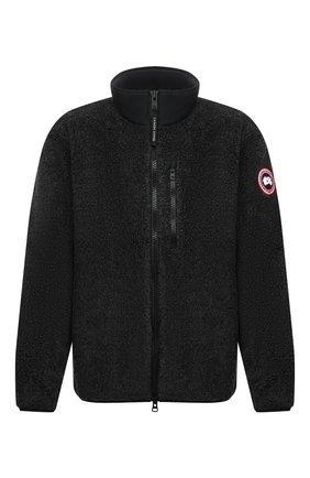 Мужская куртка CANADA GOOSE серого цвета, арт. 7017M | Фото 1 (Материал внешний: Синтетический материал; Рукава: Длинные; Длина (верхняя одежда): Короткие; Кросс-КТ: Куртка; Мужское Кросс-КТ: утепленные куртки; Стили: Спорт-шик)