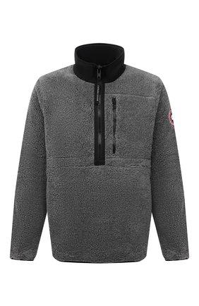 Мужская анорак CANADA GOOSE серого цвета, арт. 7053M | Фото 1 (Материал внешний: Синтетический материал; Рукава: Длинные; Длина (верхняя одежда): Короткие; Кросс-КТ: Куртка; Мужское Кросс-КТ: утепленные куртки; Стили: Спорт-шик)