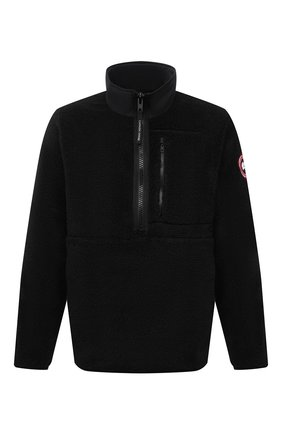 Мужская анорак CANADA GOOSE черного цвета, арт. 7053M | Фото 1 (Материал внешний: Синтетический материал; Рукава: Длинные; Длина (верхняя одежда): Короткие; Кросс-КТ: Куртка; Мужское Кросс-КТ: утепленные куртки; Стили: Спорт-шик)