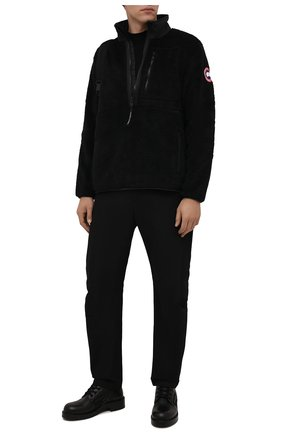 Мужская анорак CANADA GOOSE черного цвета, арт. 7053M | Фото 2 (Материал внешний: Синтетический материал; Рукава: Длинные; Длина (верхняя одежда): Короткие; Кросс-КТ: Куртка; Мужское Кросс-КТ: утепленные куртки; Стили: Спорт-шик)